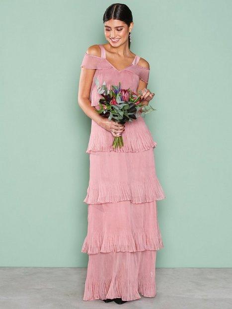 Billede af True Decadence Cold Shoulder Frill Dress Maxikjole Dusty Pink