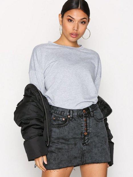 Billede af Glamorous Denim Skirt Mini Nederdel Kul