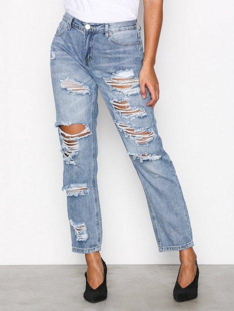Billede af Glamorous Ripped Jeans Loose fit Stonewash