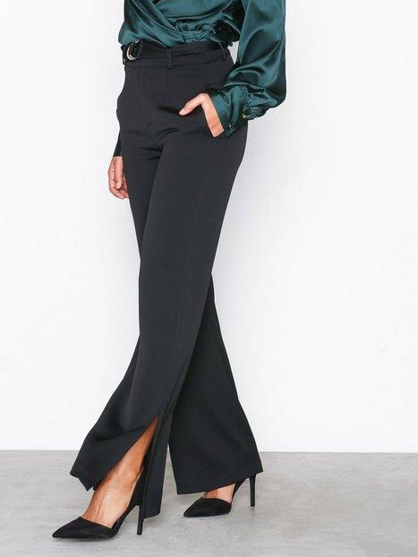 Billede af Glamorous Split Hem Trousers Bukser Black