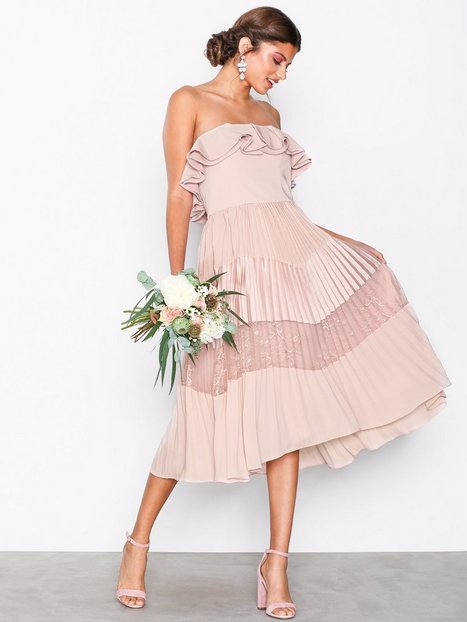 Billede af True Decadence Bardot Flounce Dress Loose fit Dusty Pink