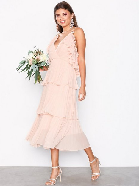 Billede af True Decadence Frill Plisse Dress Loose fit Light Pink