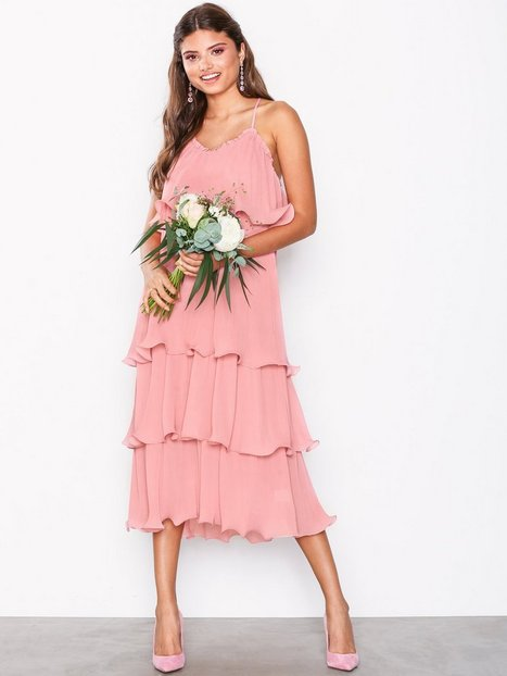 Billede af True Decadence Flounce Dress Maxikjoler Dusty Pink