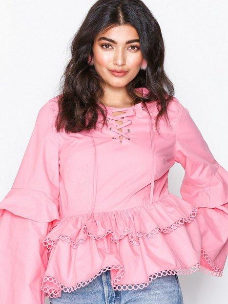 Glamorous L/S Frill Blouse Langærmede toppe Pink