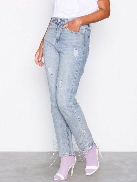 Billede af Glamorous Bleached Jeans Loose fit Blue