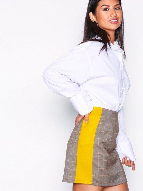 Billede af Glamorous Check Print Skirt Midi nederdele Brown