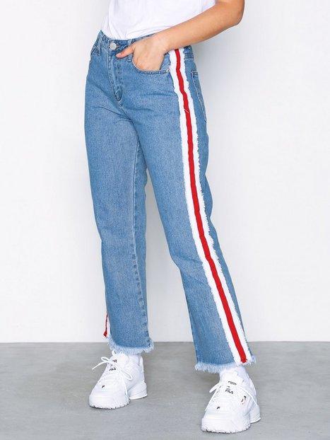 Billede af Glamorous Side Stripe Jeans Loose fit Stonewash Blue