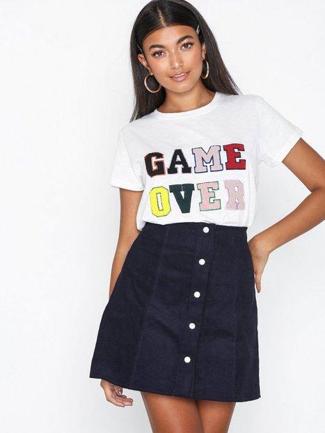 Billede af Glamorous Button Front Skirt Mini nederdele Marine