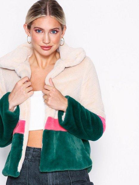 Billede af Glamorous Color Block Faux Fur Jacket Faux Fur Multi