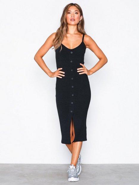Billede af River Island Foxx Midi Bodycon Dress Kropsnære kjoler Black