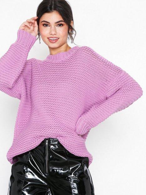 Billede af Glamorous Baloon Sleeve Jumper Strikkede trøjer Pink