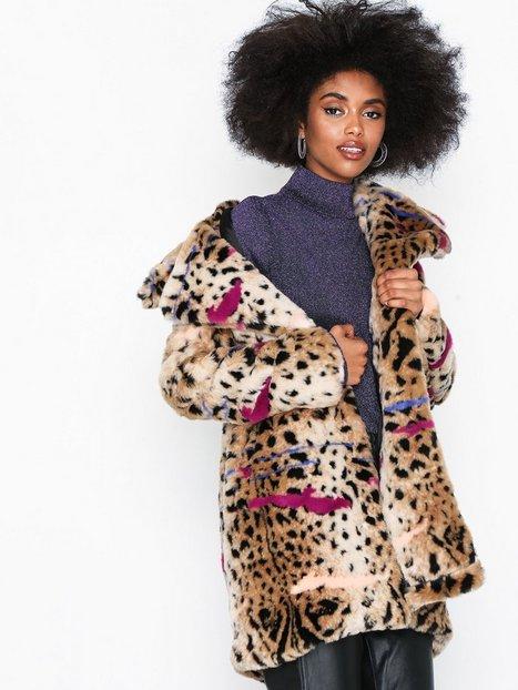 Billede af Glamorous Cheetah Fur Coat Faux Fur Cheetah Deep