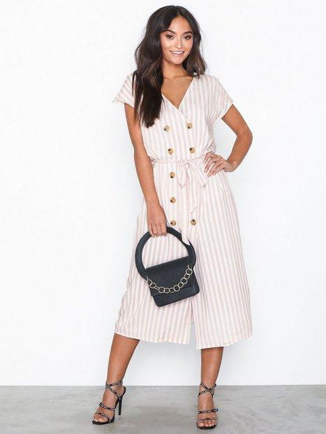 Billede af Glamorous Button Dress Stripes Loose fit dresses