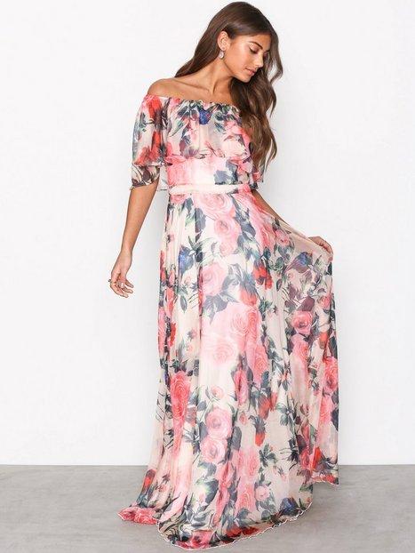 Billede af Forever Unique Bardot Dress Maxikjoler Floral