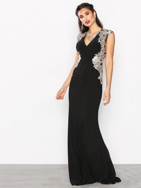 Forever Unique Sidney Dress Maksimekot Black thumbnail