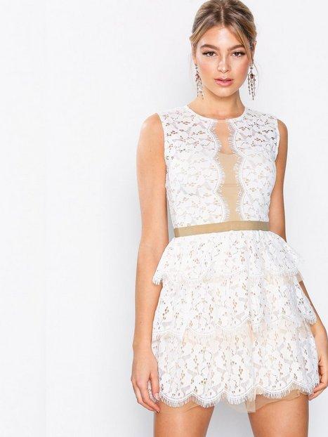 Billede af U Collection Lace Sleeveless Dress Skater dresses Ivory/Nude