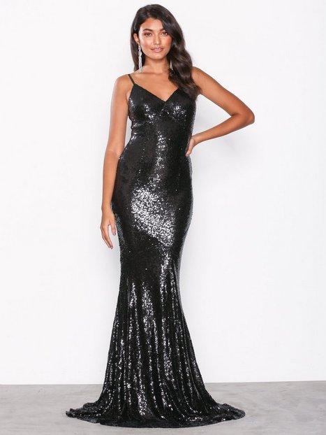Billede af Forever Unique Sequin Maxi Dress Maxikjoler Black