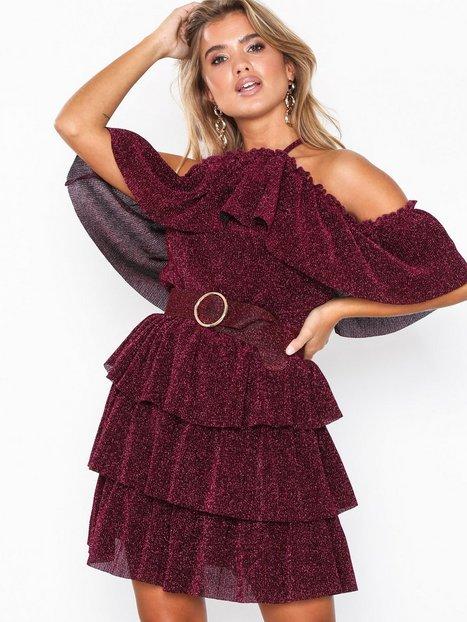 Billede af U Collection Frill Mini Dress Skater kjoler Magenta
