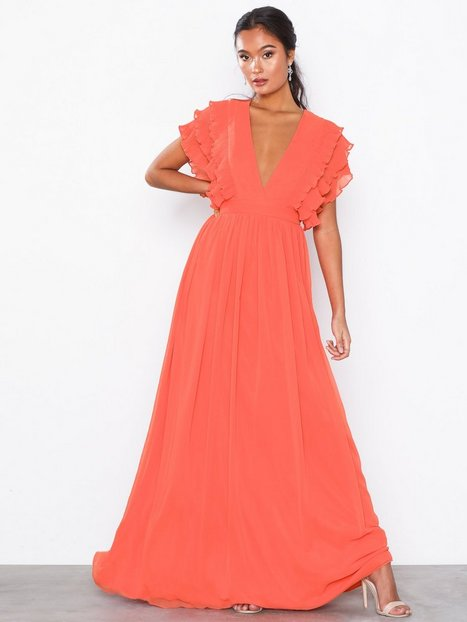 Billede af U Collection Maxi Flounce Dress Maxikjoler