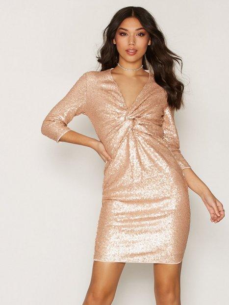 Billede af TFNC Moon Midi Dress Kropsnære kjoler Nude