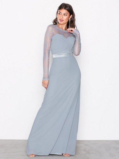 TFNC Cimmaron Maxi Dress Maksimekot Dusty Blue thumbnail