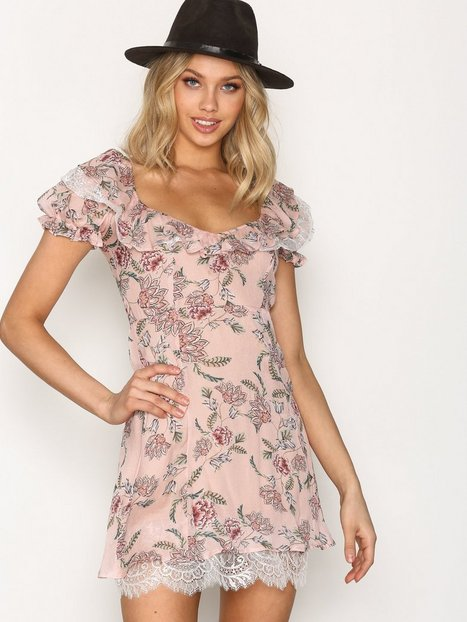 Billede af For Love & Lemons Bee Balm Mini Dress Skaterkjole Pink