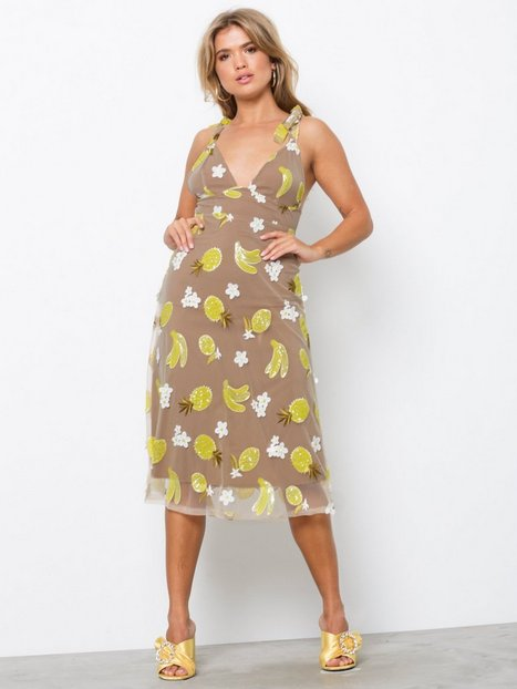 Billede af For Love & Lemons Fruitpunch sequin Midi Dr Skater dresses Pineapple