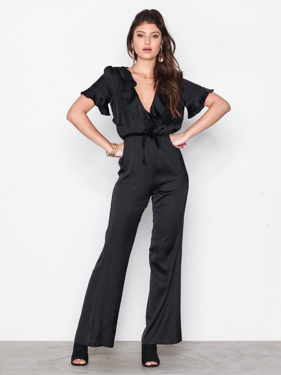 Bette Open Back Romper For Love Lemons Black Jumpsuits