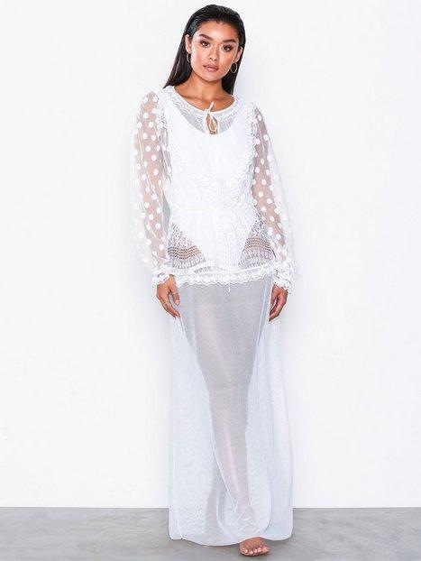Billede af For Love & Lemons Trinidad Maxi Cover Up Strandtøj Hvid