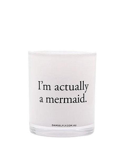 Billede af Damselfly Candles I'm Actually A Mermaid Duftlys White