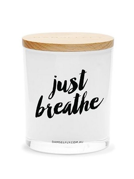 Billede af Damselfly Candles Just Breathe Duftlys White