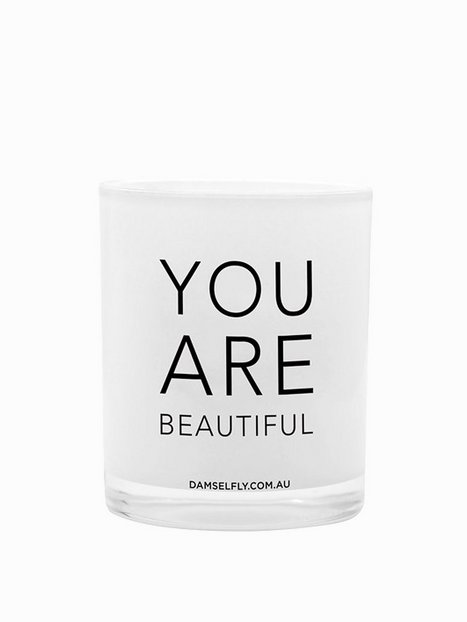 Billede af Damselfly Candles You Are Beautiful Duftlys White