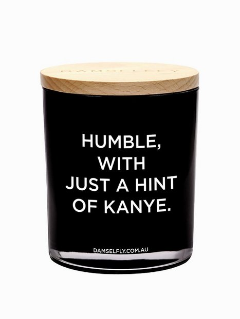 Billede af Damselfly Candles Humble With A Hint Of Kayne Duftlys Black