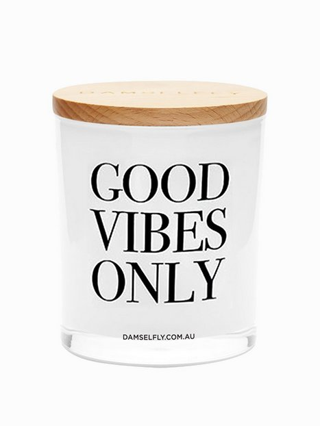 Billede af Damselfly Candles Good Vibes Only Duftlys White