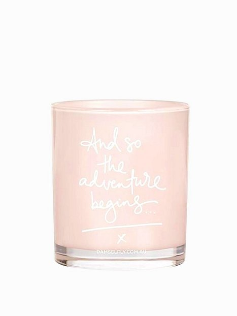Billede af Damselfly Candles And So The Adventure Begins Duftlys Blush