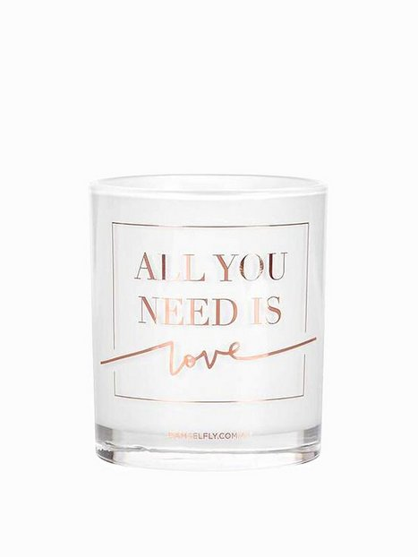 Billede af Damselfly Candles All You Need Is Love Duftlys Rose Gold