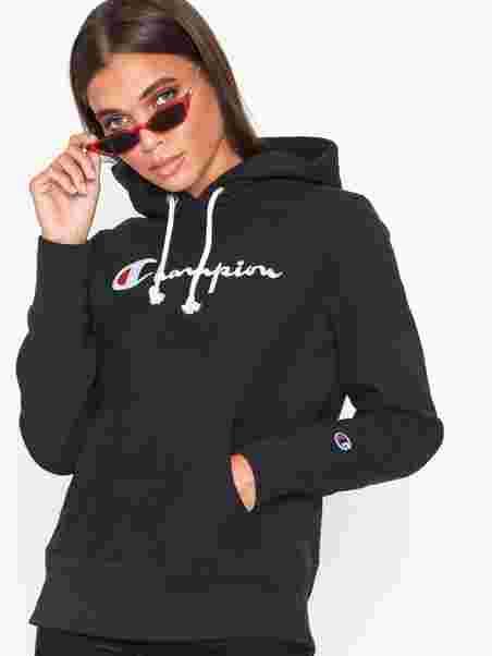 Sweatshirt Hooded Champion Jumpersamp; Cardigans Black 34RLq5Aj