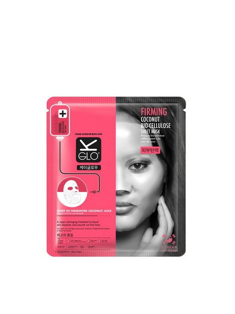 Billede af K-Glo Firming Coconut Bio-Cellulose Sheet Mask Ansigtsmaske Transparent