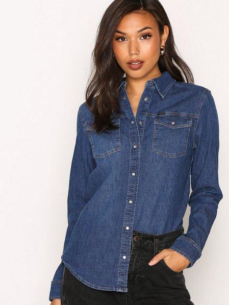 Billede af Lee Jeans Relaxed Western Skjorte Mid Blue