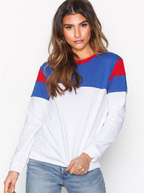 Billede af Lee Jeans Color Block sws Sweatshirts White