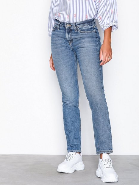Billede af Lee Jeans Elly X-Blue Damage Straight Denim Blå