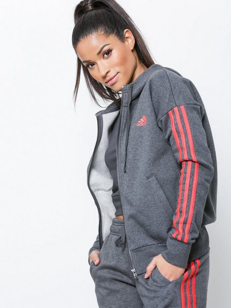 Billede af Adidas Sport Performance Ess 3S FZ Hood Hættetrøjer Mørk Grå