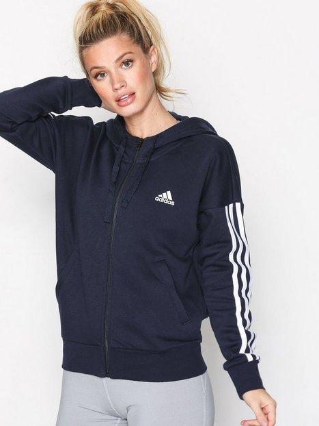 Billede af Adidas Sport Performance Ess 3S FZ Hood Lynlås trøjer Mørkeblå