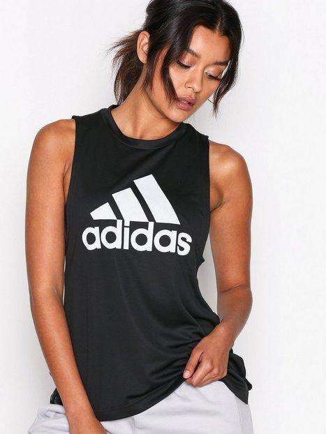 Billede af Adidas Sport Performance Boxy Logo Tank Loose-fit Top Sort