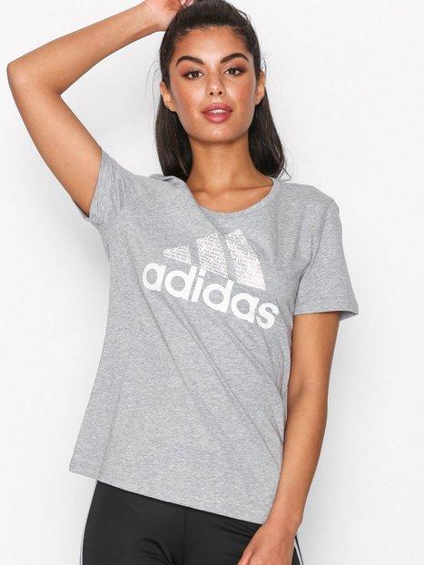 Billede af Adidas Sport Performance Foil Text Bos Top Kortærmet Grå