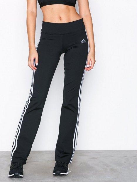 Billede af Adidas Sport Performance Brushed 3Stripe Pant Træningsbukser Sort / Hvid
