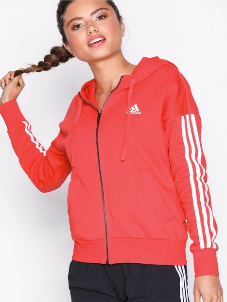 Billede af Adidas Sport Performance Ess 3S Fz Hd Hættetrøjer Rød