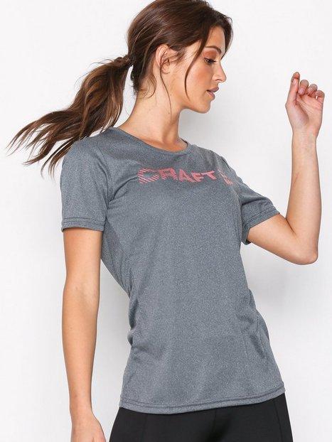 Billede af Craft Prime Logo Tee Top Kortærmet Grå