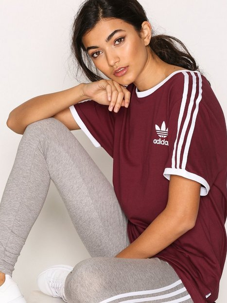 Billede af Adidas Originals 3Stripes Tee Toppe Burgundy