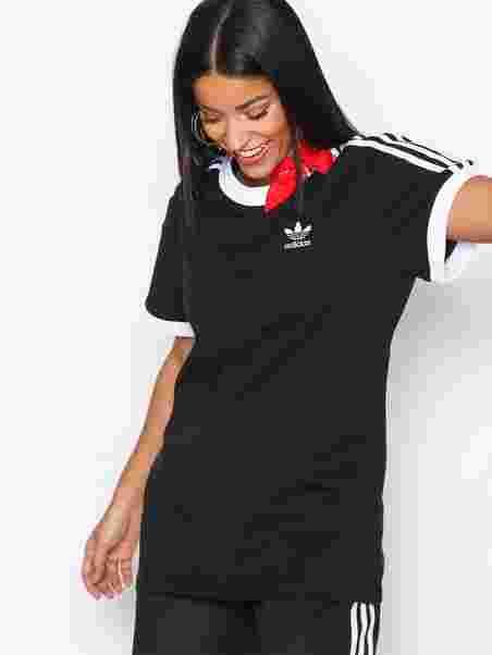 b047e91816b 3 Stripes Tee - Adidas Originals - Black - Tops - Clothing - Women ...
